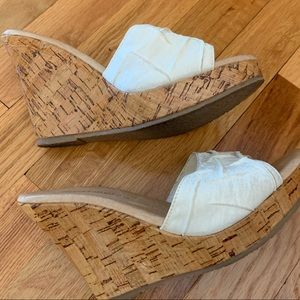 Restricted Shoes - Restricted Cream Wedges - Size 7
